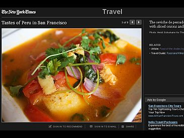 New York Times destaca originalidad de comida peruana en San Francisco