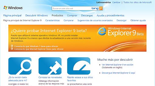 internet explorer 9 descargar gratis para windows xp