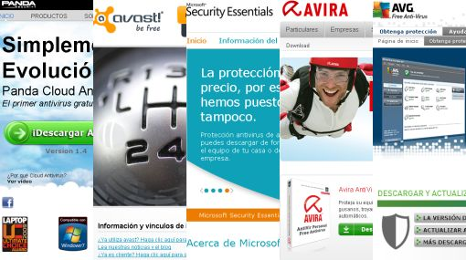 Antivirus gratuitos, Panda Cloud Antivirus, Avast! Free Antivirus, Microsoft Security Essencials, Avira AntiVir Personal, AVG