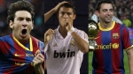 Lionel Messi, Cristiano Ronaldo, Xavi Hernndez